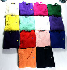 Ralph Lauren Women's Cable Knit Sweater, Jumpers Knitwear Polo Sizes XS-XL, BNWT