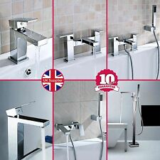 LIMA CUBE SQUARE BASIN MONO BATH FILLER SHOWER MIXER TALL FREESTANDING TAP SET