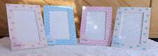 Personalised photo frame. Heart designs. New baby, christenings, birthdays ..
