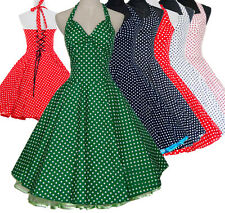 Vintage Retro Dancing Party Swing Jive Rockabilly Spot Polka Dress 50s 60s Skirt
