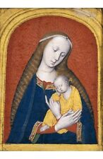 """ANONYMOUS """"Virgin And Child Tempera"""" print religious various SIZES available"""