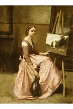 "JEAN-BAPTISTE CAMILLE COROT ""Corot's Studio"" print choose SIZE, from 55cm up"