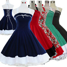 Vintage Retro Dancing Party Swing Jive Rockabilly Polka Dot Dress Skirts 50s 60s