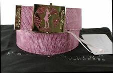Paris Hilton Handbags Belt Girls Ladies Pink Snake Skin Diamante Adjustable