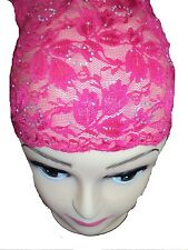 BUY 2 GET 1 FREE Lace DIAMANTE Bonnet/Tube Under Hijab/Scarf Cap, Beautiful