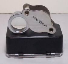 Folding Doublet Loupe 16X 25mm Chrome Plated NEW