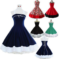 Vintage Retro Dancing Party Ball Prom Swing Jive Rockabilly Skirt 50s 60's Dress