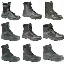 Mens Boys Security Police Patrol Work Boots. Hi-Leg Combat/Occupational Boots.