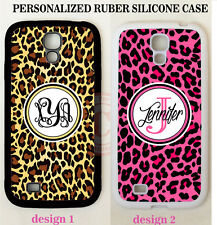 BROWN HOT PINK CHEETAH LEOPARD MONOGRAM Case For Samsung Galaxy S7 S6 NOTE 5 4 3