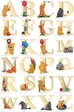 Winnie the Pooh Alphabet Letter A to Z Figurines: Pooh - Tigger - Piglet -Eeyore