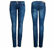 NEU ONLY Damen Hüft Jeans Hose SKINNY SUPERLOW CORAL ALI 6060 DARK blau denim