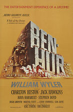"""BEN HUR"" Charlton Heston and Jack Hawkins. Epic Movie Poster A1A2A3A4Size"