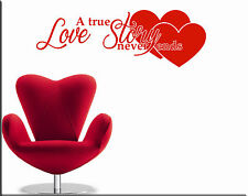 WALL STICKERS STICKER ADESIVI MURALI ADESIVO MURALE FRASE LOVE ART TATTOO WS0958