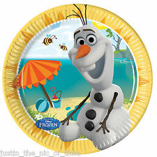 Disney FROZEN OLAF SUMMER 19.5cm Paper Plates Girls Boy Party Supplies Tableware