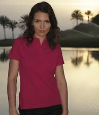 Glenmuir Sophie Ladies Pique Polo Shirt Womens Sports Golf Top 6 Colours S - XL
