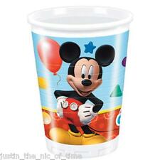 Disney MICKEY MOUSE CLUBHOUSE Plastic Cups Boys Birthday Tableware Job Lot