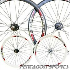 "28 "" 700c alluminio Fixie single speed CERCHIO hochflansch Set ruote bicicletta"