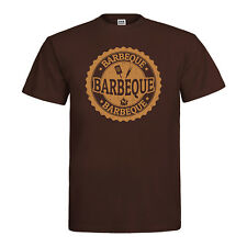 BBQ Barbeque T-Shirt Vintage Style Retro Emblem Grill Party Kult Vatertag Neu