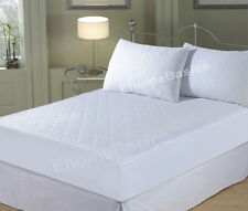 Mattress Protector Quilted Fitted Mattress Cover 4Ft, Single, Double, King Super