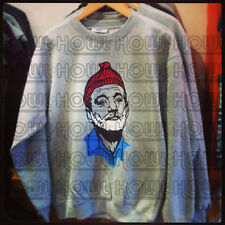 Bill Murray Portrait 'Life Aquatic' Wes Anderson Inspired Sweater Cult Film