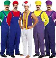 mens adult mario luigi toad mushroom halloween 1980s fancy dress costume outfit