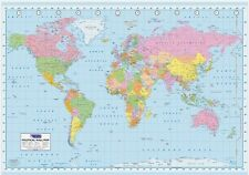 New Political Wall Map World Map Giant Poster