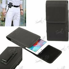 PU Leather Magnetic Flip Belt Clip Hip Pouch Case Holster For Mobile Cell Phone