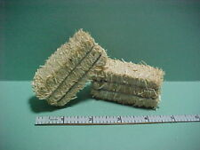 Dollhouse Miniature Hay Bales (2)   #C6078 - Town Square Miniatures 1/12th scale