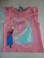 DISNEY Frozen Really Pretty Little Sisters Forever Pink Top NWT