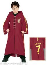 Boys Deluxe Harry Potter Quidditch Robe Book Day Fancy Dress Up Costume Outfit