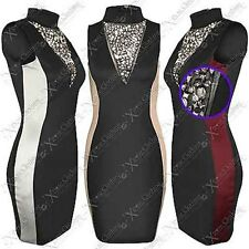 NEW WOMENS LADIES JEWEL BODYCON DRESS MESH TOP DIAMANTE BLACK SLIM LOOK PARTY