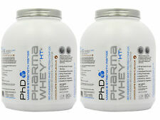 2 x PhD Nutrition Pharma Whey HT+ 2.27kg 5lb Protein Isolate BCAA Muscle Recover