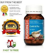 FUSION HEALTH COLD & FLU - ALL SIZES - ECHINACEA + HERBS + FREE SHIPPING