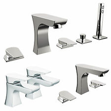 BRISTAN HOURGLASS TAPS BASIN MIXER BATH SHOWER FILLER CHROME MONO BATHROOM SET