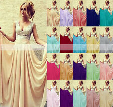Long Formal Prom Bridesmaid Wedding Dresses Evening Party Ball Gown STOCK Sz6-16
