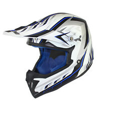 Casque cross moto enduro cross scooter quad dirt Couleur Bleu - Blanc