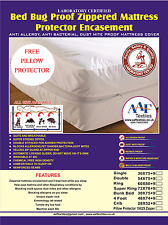 Waterproof Smooth Zippered Bed bug Proof Mattress Cover Protector Encasement
