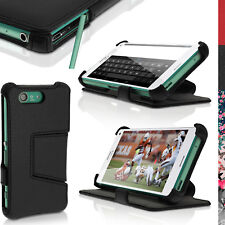 PU Leather Flip Case for Sony Xperia Z3 Compact D5803 Stand Book Folio Cover