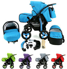 Baby Pram Buggy Pushchair Stroller DYNAMIC+ Car seat + Carrycot Poussette