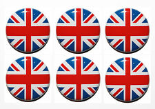 6 x Small Circle Flag Magnets UK, England, Ireland, Scotland & Wales