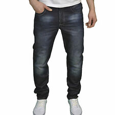 Eto Mens Designer Branded Slim Straight Fit Darkwash Jeans, BNWT