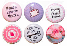 6 Mini 'New Home' Gift Magnets Perfect Housewarming Gift / Kitchen - 25mm