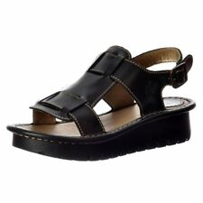 Womens Fly London Kani Leather Wedge Open Toe Summer Sandal Cleated Sole Size