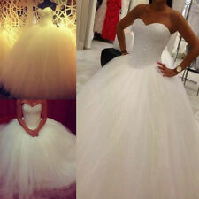 New Stock White/ivory Wedding dress Bridal Gown custom size 6-8-10-12-14-16 18