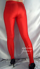 MADAME FANTASY SEXY RED SHINY OPAQUE SPANDEX FOOTED LEGGINGS XS-XXXL Tall