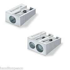 STAEDTLER METAL PENCIL SHARPENER - available with single or double hole
