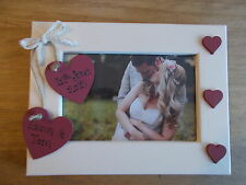 Vintage Engagement Gift Personalised Photo Frame Any Wording 6x4 5x7 8x6 10x8
