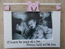 Personalised New Baby/Family Photo Frame Any Wording Any Colour/Initial