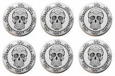 Mexican Sugar Skull Circle Fridge Magnets MADE IN UK. Gifts & Kitchen 25mm