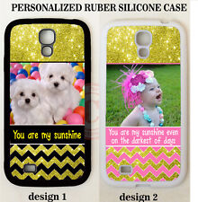 CUSTOM PET BABY PHOTO PINK GOLD CHEVRON CASE FOR SAMSUNG GALAXY S7 S6 NOTE 5 4 3